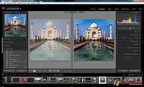 Screenshot Adobe Photoshop Lightroom Windows XP