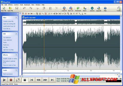 Screenshot WavePad Sound Editor Windows XP