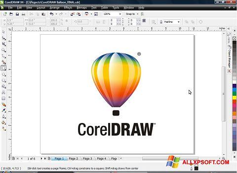Screenshot CorelDRAW Windows XP