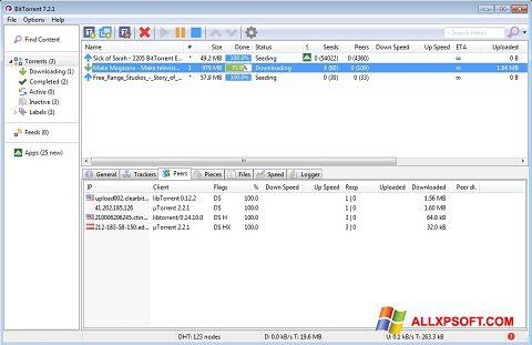 Screenshot BitTorrent Windows XP