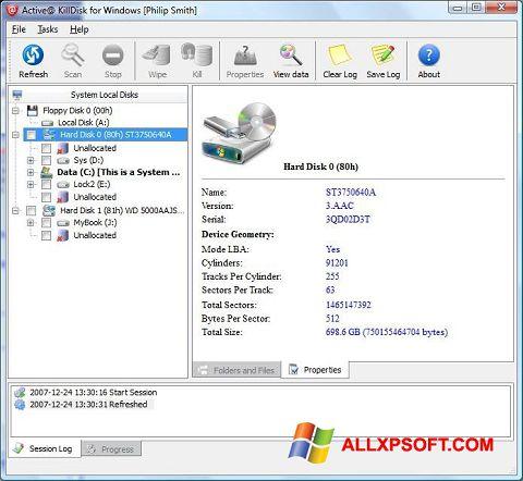 Screenshot Active KillDisk Windows XP