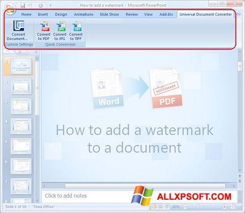 Screenshot Microsoft PowerPoint Windows XP