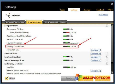 Screenshot Norton Windows XP