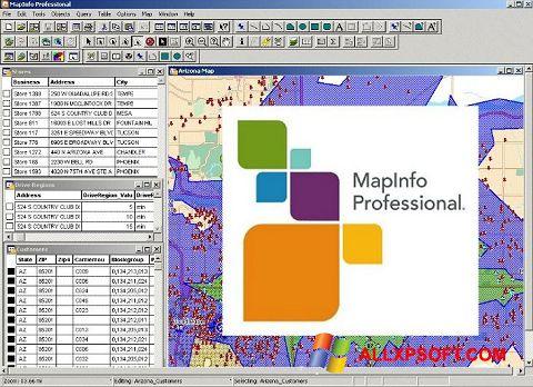 Screenshot MapInfo Professional Windows XP