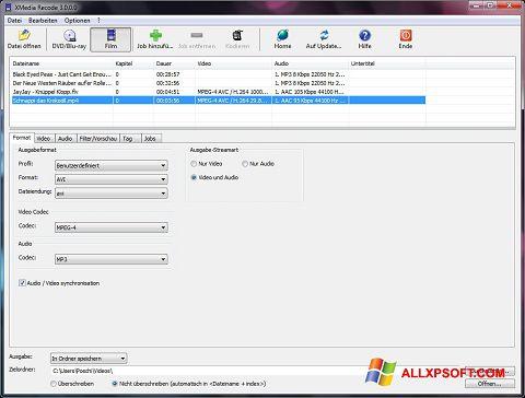 Screenshot XMedia Recode Windows XP