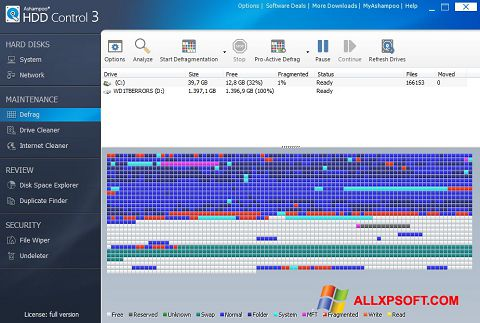 Screenshot Ashampoo HDD Control Windows XP