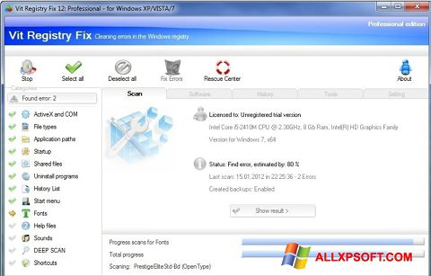 Screenshot Vit Registry Fix Windows XP