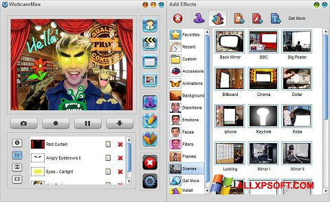 Screenshot WebcamMax Windows XP